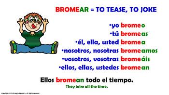 "Verb Conjugation -Present Tense /12 Regular Verbs Ending in –""AR"" (PPT #3)"