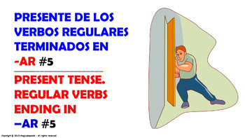 "Verb Conjugation -Present Tense /12 Regular Verbs Ending in –""AR"" (PPT #5)"