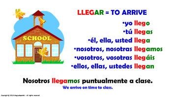 "Verb Conjugation -Present Tense / 12 Regular Verbs Ending in –""AR"" (PPT #6)"