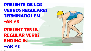 "Verb Conjugation -Present Tense. / 12 Regular Verbs Ending in –""AR"" (PPT #8)"