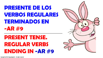 Verb Conjugation -Present Tense / 12 Regular Verbs Ending