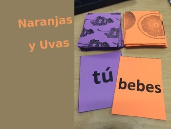 Verb Conjugation Card Game