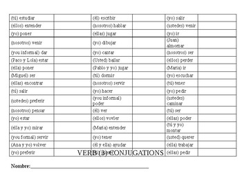 Verb Conjugation Drill 3