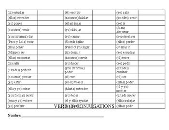 Verb Conjugation Drill 3