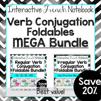 French Verb Conjugation Foldable MEGA GROWING Bundle French Interactive Notebook