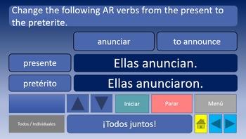 Verb Conjugation Game Capítulo 2B Realidades 2