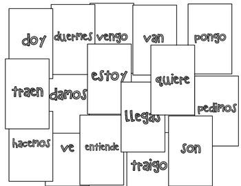 Verb Conjugation Game - Cucharas