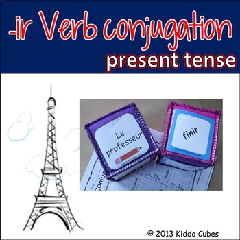 "Verb Conjugation -IR Verbs (French) ""Learning cube Inserts"""