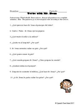 Verb Conjugation / Interrogatives (with Mr. Bean)!