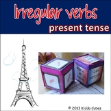 """Irregular Verbs (French) """"Learning cube Inserts"""""""