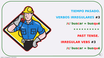 "Verb Conjugation –Past Tense/12 Irregular Verbs. ""C-QUE"" Change (PPT  #03)"