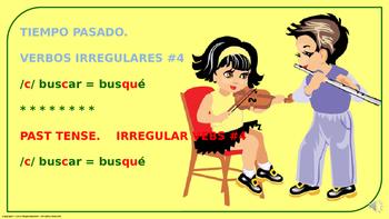 "Verb Conjugation –Past Tense/12 Irregular Verbs. ""C-QUE"" Change (PPT  #04)"