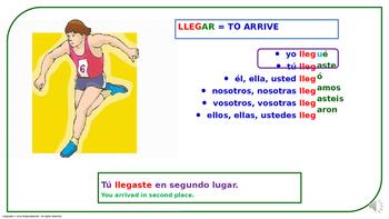 "Verb Conjugation –Past Tense/12 Irregular Verbs. ""G-GUE"" Change (PPT  #05)"