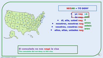 "Verb Conjugation –Past Tense/4 Irregular Verbs. ""G-GUE"" Change (PPT  #06)"