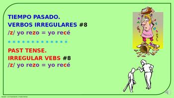 "Verb Conjugation –Past Tense /4 Irregular Verbs. ""Z-C"" Change (PPT  #08)"
