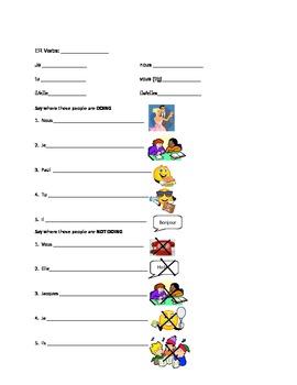 Verb  Conjugation Practice Worksheet (AVOIR, ETRE, FAIRE, ER)