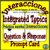 Verb Conjugation Questions and Response Prompt Card - Mis actividades