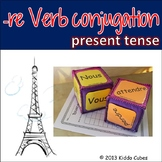 """-RE Verbs (French) """"Learning cube Inserts"""""""