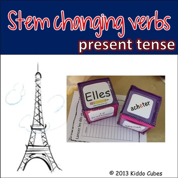 "Verb Conjugation -Stem-changing Verbs (French) ""Learning cube Inserts"""