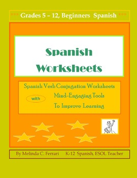 Verb Conjugation Worksheet Exercises with  templates