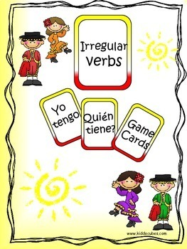 Verb Conjugations (AR, ER, IR) Learning Cube Inserts