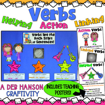 verbs craftivity action verbs linking verbs and helping verbs - Action Berbs