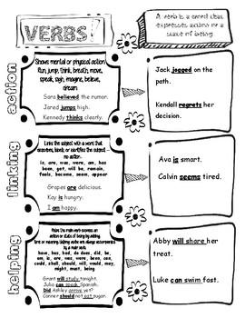 Verb Doodle Notes
