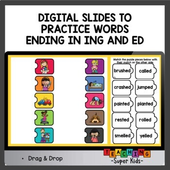 ed and ing Word Working Activities