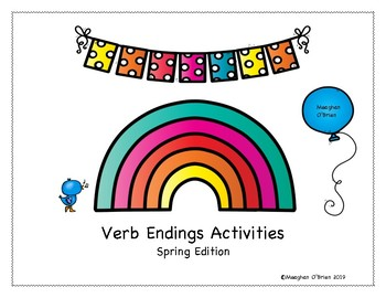 Verb Endings Activities - Spring Edition