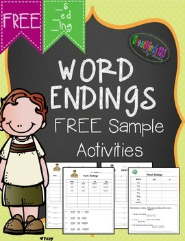 Word Endings - free sample