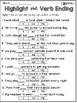 Verb Endings Practice Sheets NO PREP