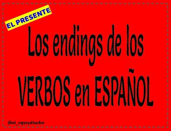 Verb Endings - Presente