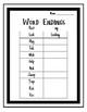 Verb Endings Worksheet
