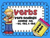 Verb Endings -ed, -es, -ied, -ies