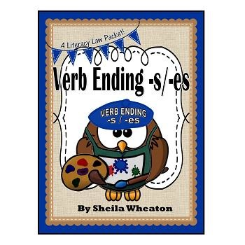 Verb Endings -s and -es:  A Literacy Laws Packet for Young