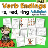 Inflectional Verb Endings s, ed, ing Activity Pack
