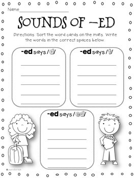 Inflectional Endings s, ed, ing Activity Pack