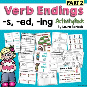 Inflectional Verb Endings s, ed, ing Activity Pack PART 2