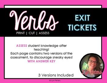 Verb Exit Tickets