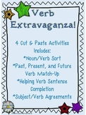Verb Extravaganza - 4 Cut & Paste Activities