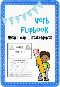 Verb Flipbook with I can.... statements