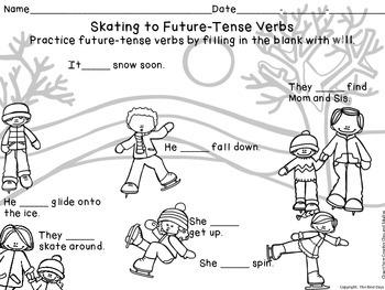 Verb Freebie  Future-Tense Skating Fun