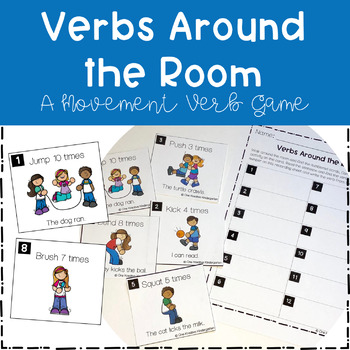Verb Game - Verbs Around the Room