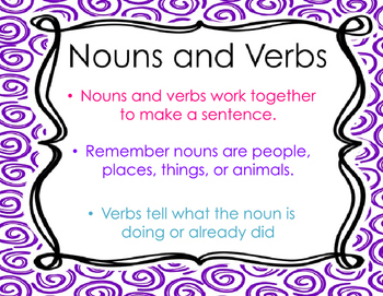 Verb Introduction or Review PowerPoint