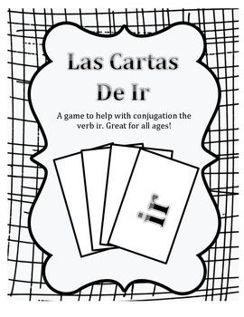 Verb Ir Card Game