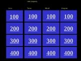 Verb Jeopardy