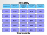 Verb Jeopardy Review Game for Middle School