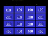 Verb Jeopardy Round Two