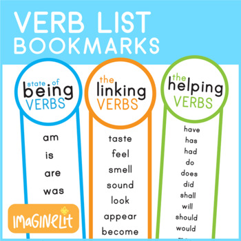 State of Being Verbs and Helping Verbs List Bookmarks