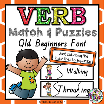 Verb Match QLD Beginners Font